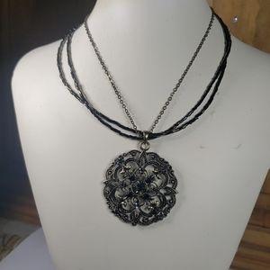 Cookie Lee rhinestone pendant necklace